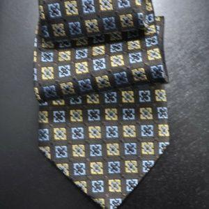 *NEW* Ermenegildo Zegna Brown/Yellow/Blue Tie